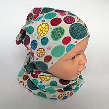 Detské čiapky - detská bavlnená čiapka (pestrofarebná) - 9094312_