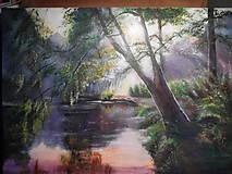 Obrazy - Krajina pri jazere - 9093106_