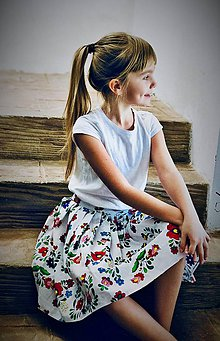 Detské oblečenie - Folk sukňa  - 9094683_