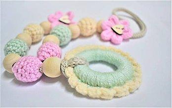 Detské doplnky - Korále / náhrdelník na kojenie - 9095049_