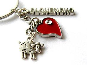 Kľúčenky - milujem Slovensko -  ovecka - klucenka - 9092158_