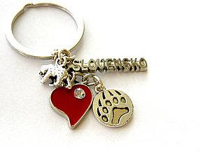 Kľúčenky - milujem slovensko - medved - 9093495_