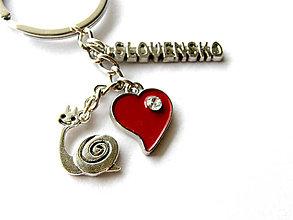 Kľúčenky - milujem slovensko - slimacik - 9093570_