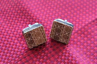 Šperky - Drevené manžetové gombíky - 9091582_
