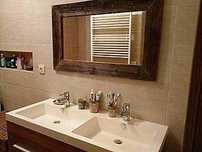 Zrkadlá - Zrkadlo so starého dreva - 9091609_
