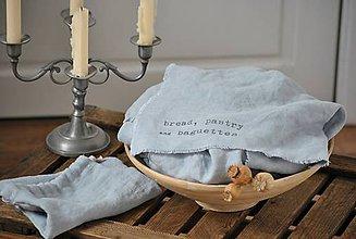 Úžitkový textil - Plátno na chlieb a pečivo s nápisom - 9092358_