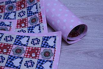 Úžitkový textil - VALENTÍNSKE PRESTIERANIE-SRDIEČKOVÉ - 9094602_