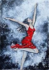 Obrazy - Tanec v červenom - 9094597_