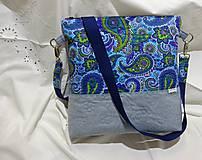 Veľké tašky - Taška modro-tyrkysová - 9093349_