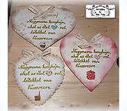 Dekorácie - Velké srdce do babičkinej kuchyne so želanym textom :) - 9093307_