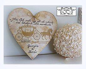 Dekorácie - Velké srdce pre svadobčanov :) - 9093372_