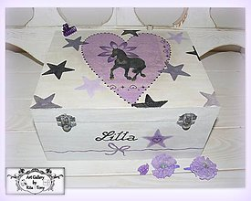Krabičky - Hlboká šperkovnica s koníkom :) - 9094256_