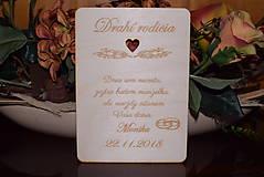 Darčeky pre svadobčanov - Poďakovanie rodičom drevená tabuľka 1 - 9092305_