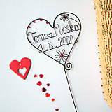 Dekorácie - svadobné srdiečko mladomanželom - 9099295_