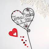 Dekorácie - svadobné srdiečko mladomanželom - 9099299_