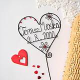 Dekorácie - svadobné srdiečko mladomanželom - 9099302_
