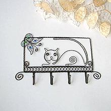 Detské doplnky - vešiak mačka s motýlikom - 9096301_