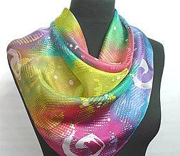 Šatky - Hra barev. Hedvábný šátek. - 9097778_