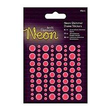 Papier - Neónové, vysokolesklé, vypuklé a glitrované nálepky - ružové - 9098090_