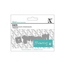 Pomôcky/Nástroje - Mini dies 2ks - vyrezávacia šablóna - Memories - 9098282_