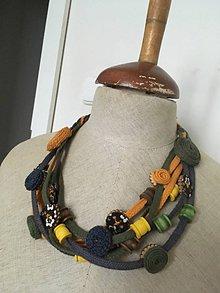 Náhrdelníky - Textilný náhrdelník --originálny - 9095756_