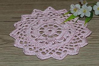 Úžitkový textil - Háčkovaná podložka Čajová ruža - 9096434_