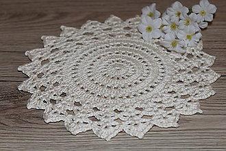 Úžitkový textil - Háčkovaná dečka Vanilkový kvet - 9097046_