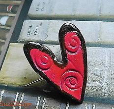 Odznaky/Brošne - brož oblúčikové srdce - 9096951_