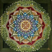 Obrazy - Mandala rodinnej súdržnosti a zdravia - 9096177_