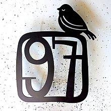 Tabuľky - Číslo na dom s vtáčikom  (Tabuľka s vtáčikom / 2 číslice) - 9097510_