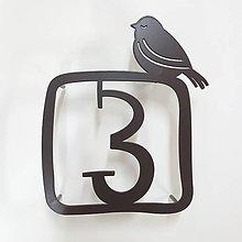 Tabuľky - Číslo na dom s vtáčikom  (Tabuľka s vtáčikom / 1 číslica) - 9097511_