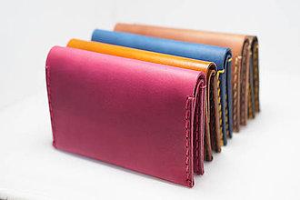 Peňaženky - Kožená peňaženka Slim - různé barvy - 9100124_