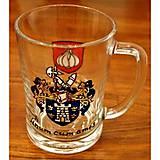 Nádoby - Úžitkové dekorované sklo - poháre - čaše - 9096107_