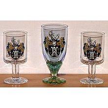 Nádoby - Úžitkové dekorované sklo - poháre - čaše - 9096106_