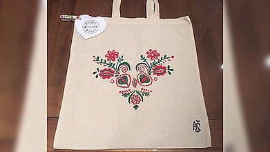 Iné tašky - ♥ Plátená, ručne maľovaná taška ♥  (R6) - 9100218_