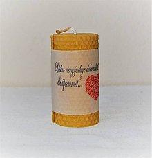 Svietidlá a sviečky - Sviečka s originálnym venovaním veľká - 9098363_
