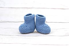 Topánočky - Modré papučky zimné EXTRA FINE - 9096414_