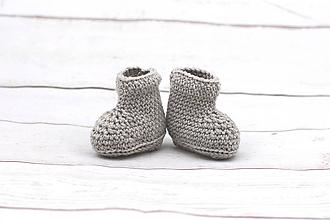 Topánočky - Béžové papučky zimné EXTRA FINE - 9096390_