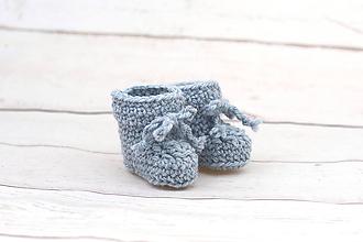 Topánočky - Modré papučky zimné EXCLUSIVE FINE - 9096439_
