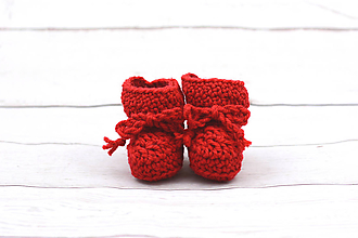 Topánočky - Červené papučky zimné EXCLUSIVE FINE - 9096622_