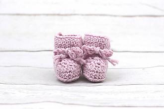 Topánočky - Ružové papučky zimné EXCLUSIVE FINE - 9096887_