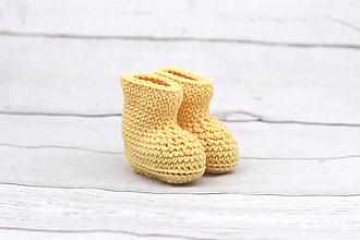 Topánočky - Žlté papučky zimné EXTRA FINE - 9096939_