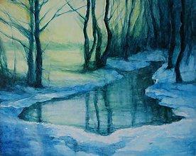 Obrazy - Zimná krajina II. - 9097457_