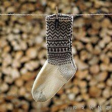 Obuv - Ponožky z ovčej vlny SÚČA - 9097829_