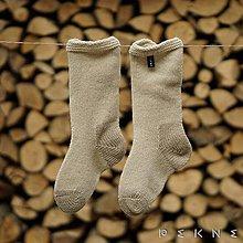 Obuv - Ponožky z pravej ovčej vlny NATURAL/BIELA - 9097903_