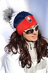 Čiapky - Zimná obojstranná čiapka s odopínacím brmbolcom´´SLOVENSKO´´ - 9100538_