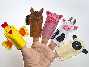 Hračky - Zvieratká 1. - prstové bábky - 9097132_