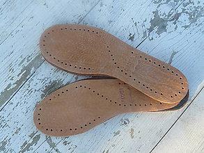 Iný materiál - kožená podrážka na papuče - 9097990_