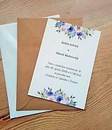 Papiernictvo - svadobné oznámenie lila - 9096816_