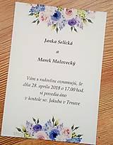 Papiernictvo - svadobné oznámenie lila - 9097266_